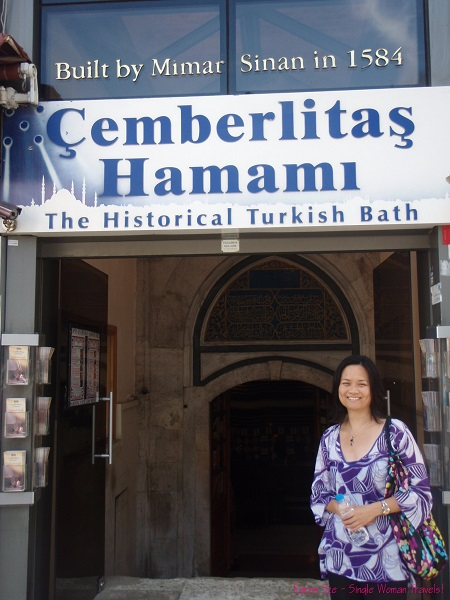 A happy, mello-jello customer!! at Cemberlitas Hamami, Istanbul, Turkey