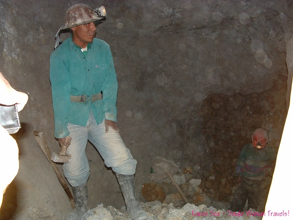 A hard working silver miner in Potosi, Bolivia - He would stay underground for over a week with coca leaves to suppress his appetite, 100% alcohol to drink, sticks of dynamite to blast through the rocks and worships Pachamama every day - in hopes to find enough silver to feed his family.