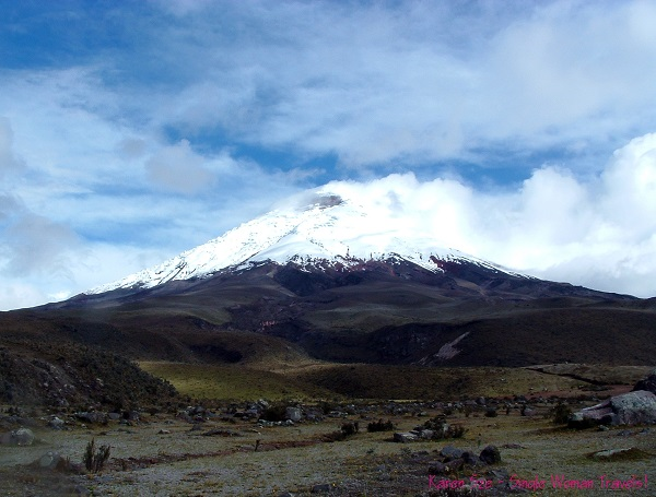Cotopaxi volcano,  the second highest summit in Ecuador