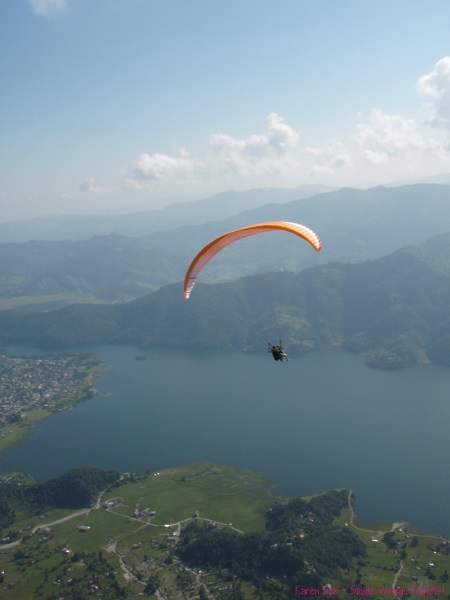 Paragliding is lots of fun