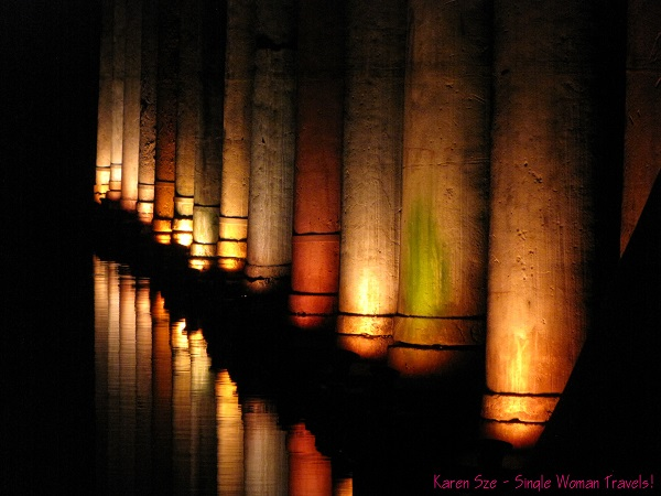 Reflections of columns inside Basilica cistern - Istanbul, Turkey