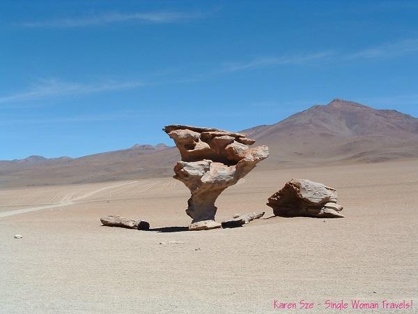 Salvador Dali desert (Valle de Dali) in Bolivia