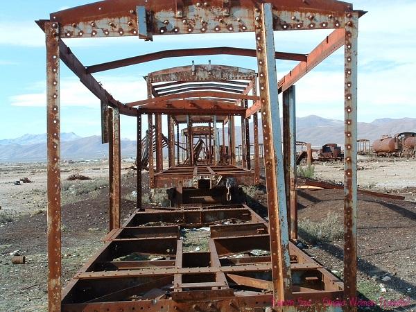 The hauntingly beautiful Uyuni train cemetary in Bolivia