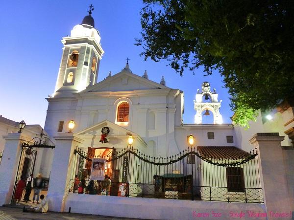 The historical Iglesia Nuestra Señora Del Pilar