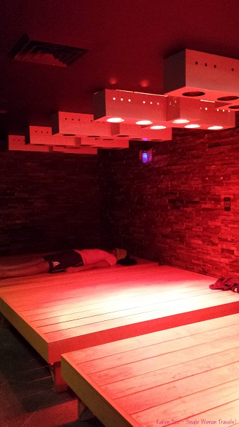 The Infrared Zone set to automatic timers so you don't over indulge at Spa Castle NYC