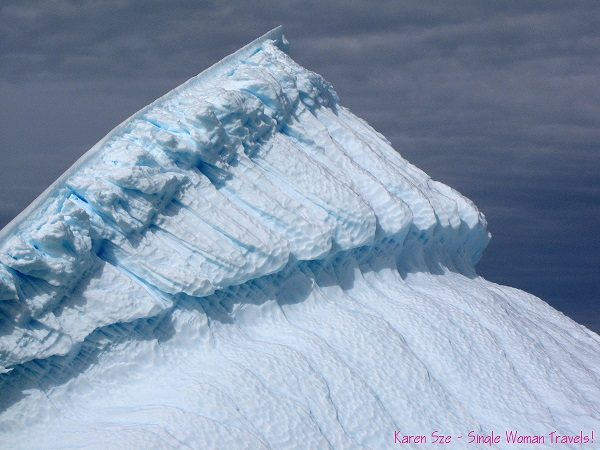Amazing textures on a very large Antarctica iceberg