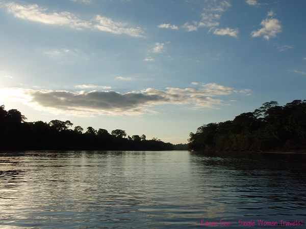 Dawn of a new day - Tambopata river (Amazon tributary) Peru