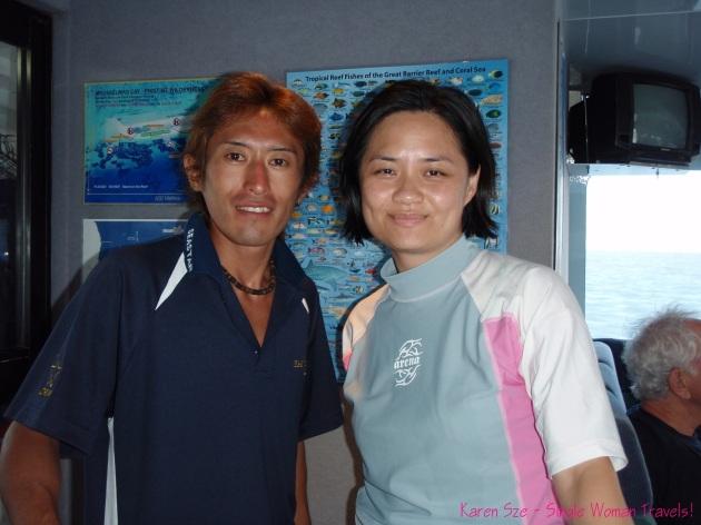 Takashi Nakagawa, my Dive master, for my first scuba dive! Awesome guy!