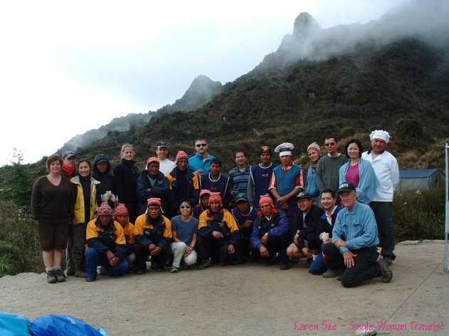 Inca trail Peru family travelers guides porters chef