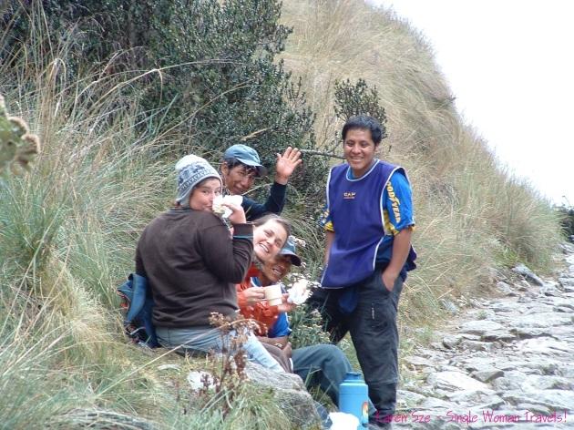 Inca trail toughest day day 2 Peru
