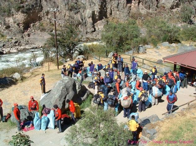 The Porters of Inca Trail Peru