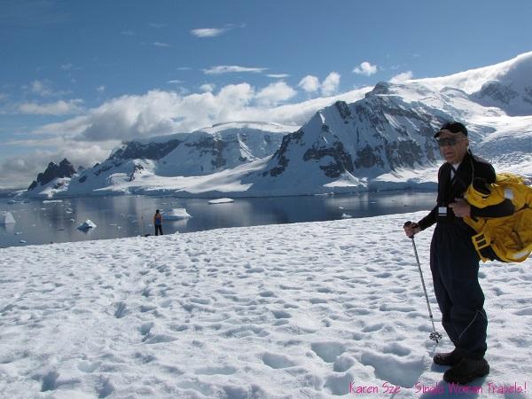 Senior male Antarctica traveler