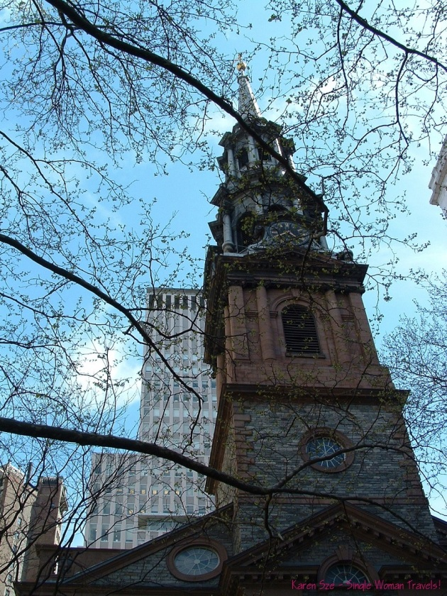Spring time at Trinity Church, New York City