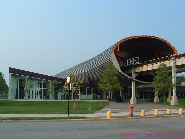 The McCormick Tribune Campus Center at the Illinois Institute of Technology (IIT) designed by Rem Koolhaas