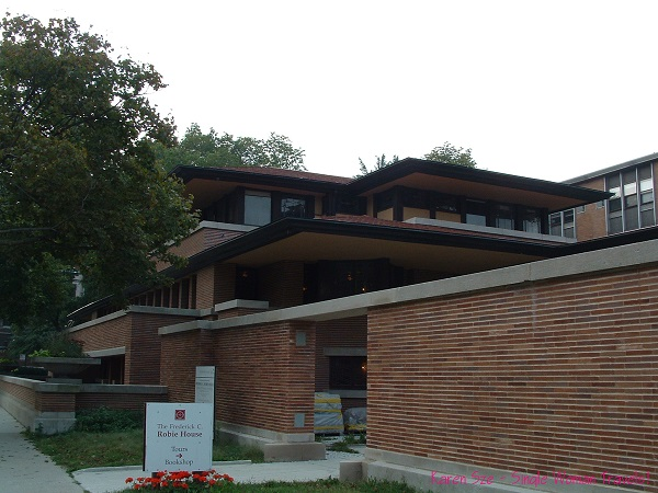 The Robie House designed by Frank Lloyd Wright