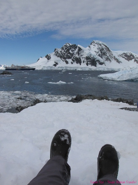 The view from the ridge (Orne Harbour, Antarctica)