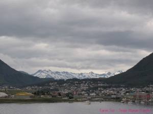 View of Ushuaia Argentina Mountains landscape town
