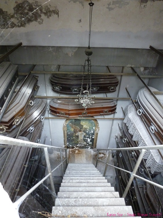 Contents of a tomb at Recoleta Cemetery Buenos Aires Argentina