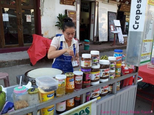 Crepe stand for the tourists Luang Prabang Laos