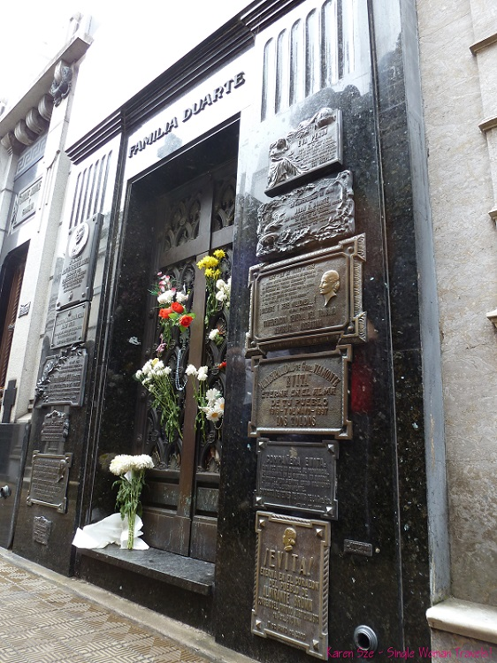 Duarte family mausoleum Recoleta Cemetery Buenos Aires Argentina