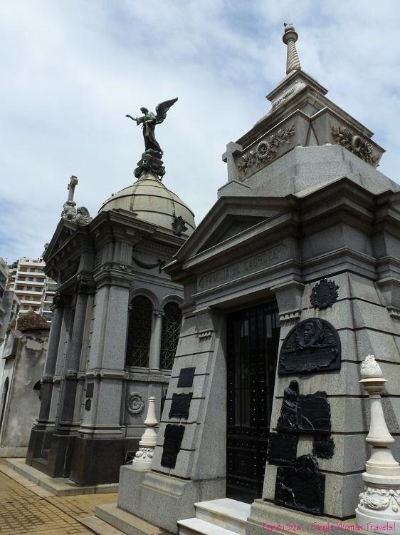 Elaborate marble mausoleums Recoleta Cemetery Buenos Aires Argentina