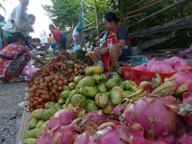Fresh tropical fruits in Luang Prabang Laos