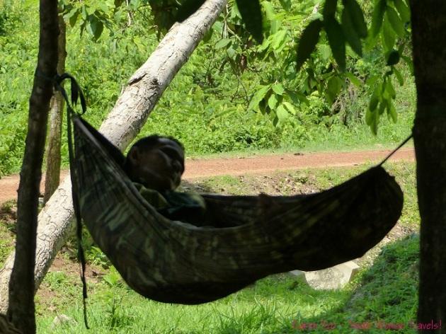 Mid-day hammock nap in Cambodia