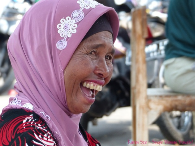 Happy woman in Central Java, Indonesia