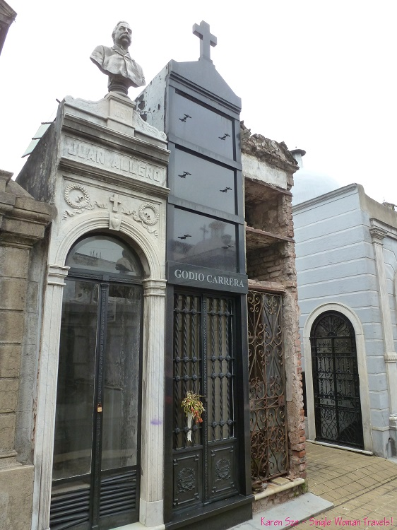 High rise style mausoleums Recoleta cemetery Buenos Aires Argentina