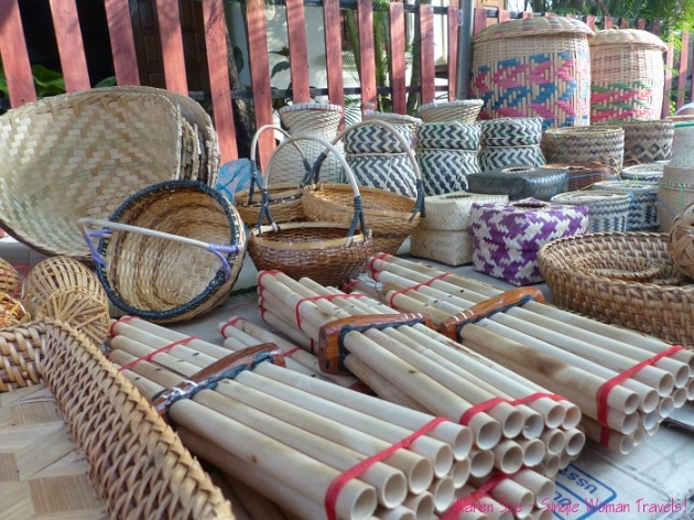 House wares at Morning market in Luang Prabang Laos