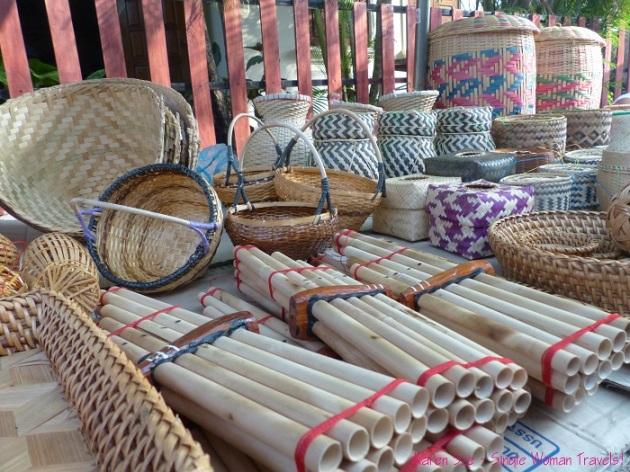House wares at Morning market in Luang Prabang Laos