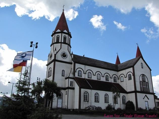 Iglesia del Sagrado Corazón de Jesús in Puerto Varas Chile