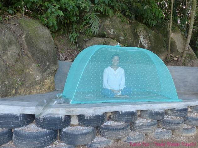Karen Sze meditate at Sitavana Vihara 悉达林, Penang, Malaysia