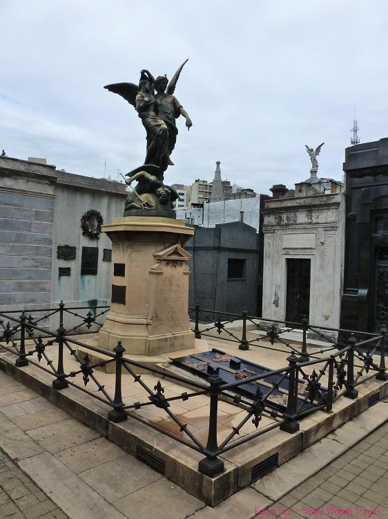 Monument style tomb Recoleta Cemetery Buenos Aires Argentina