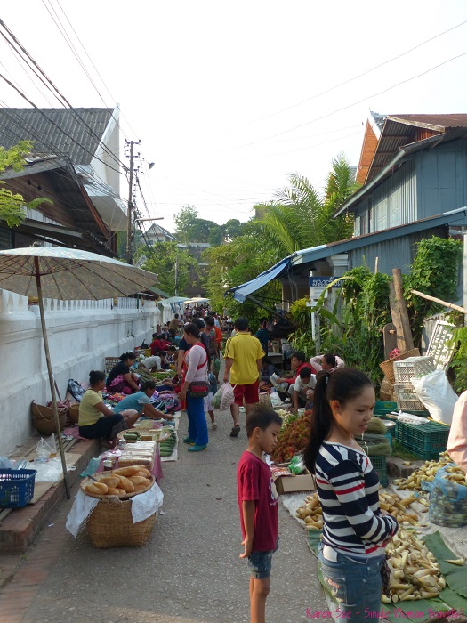 Morning market in Luang Prabang Laos