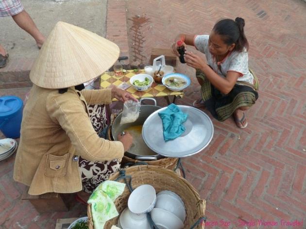 Noodle soup at Morning market Luang Prabang Laos