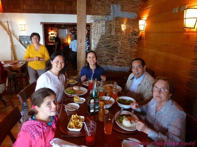 Seafood lunch with Ximena and family in Puerto Varas Chile