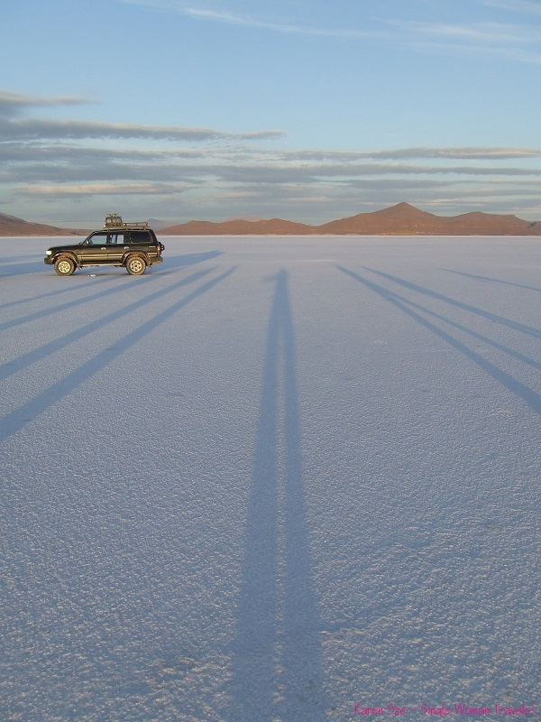 Shadow play - amongst giants at Salar d'Uyuni Bolivia
