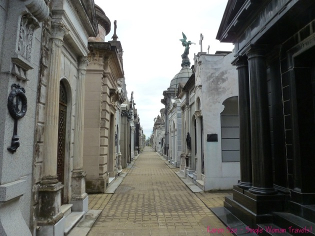 Streets of mausoleums Recoleta Cemetery Buenos Aires Argentina
