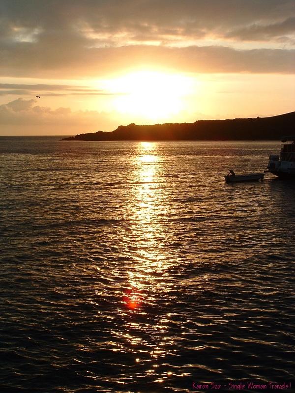 Sunset at Galapagos islands Ecuador