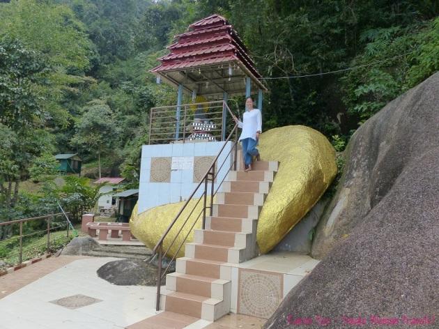 Symbolic Kyaiktiyo Pagoda at Sitavana Vihara Penang Malaysia