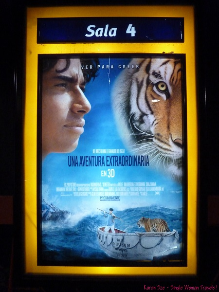 3D Movie - Life of Pi poster in Spanish