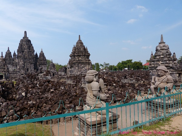 Candi Sewu Buddhist temple in Central Java, Indonesia