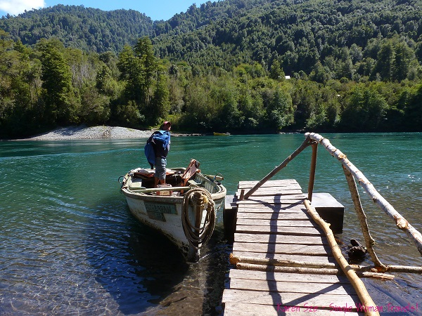 Dock of river crossing to Ralun hot spring