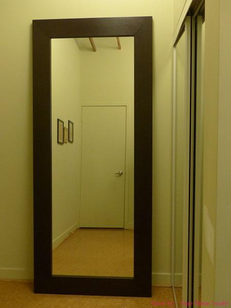 Empty reflection in mirror
