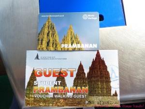 Entrance ticket to Prambanan