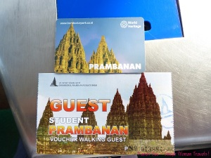 Entrance ticket to Prambanan