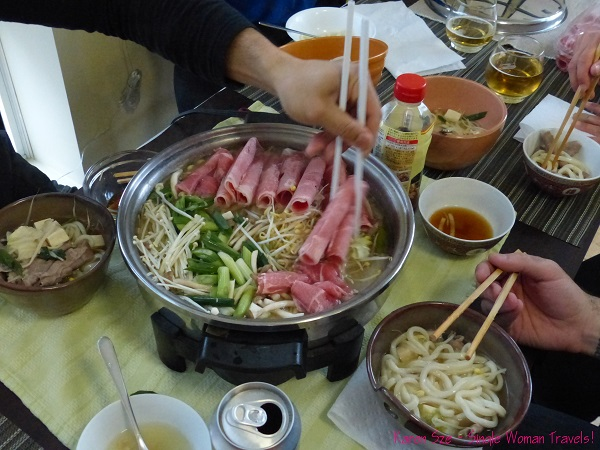 Homemade Japanese hot pot