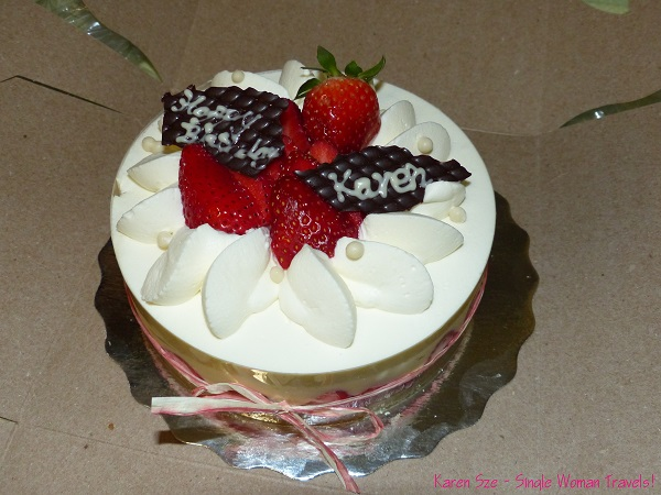 Japanese style birthday cake from mon K Patisserie