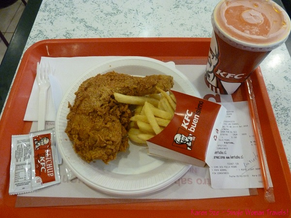 KFC meal in Mall Plaza de Los Ríos, Valdivia, Chile